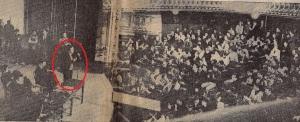 Maurice Pasquier sur la scène du Théâtre