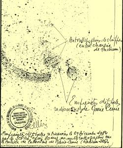 Empreintes de Marie Curie et écriture et paraphe de Pierre Pellerin