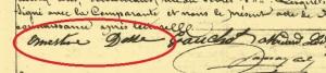 "Elle signe ""Ernestine ..."""