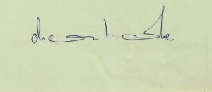 Signature de Chantale ( 1968)