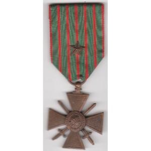 croix de guerre avec étoile de bronze