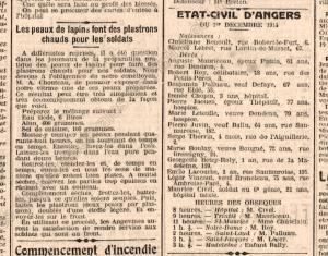 AD 49 Petit Courrier déc 1914