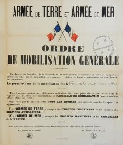 Affiche de la mobilisation 1914
