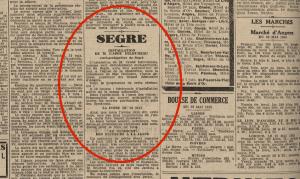AD49 - Petit Courrier du 26  mai 1935