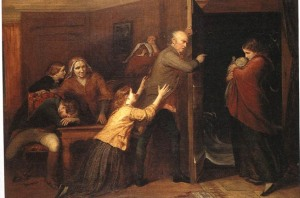 the-outcast-richard-redgrave-1851-un-pc3a8re-chasse-de-la-maison-sa-fille-portant-dans-ses-bras-son-enfant-illc3a9gitime