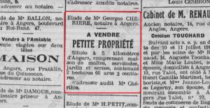 étude cherière 1914 juillet