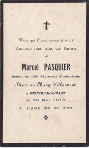 Faire part édité par ses parents Baptiste Pasquier   et Angèle Houdin