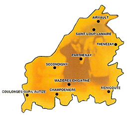 Carte du portail du Pays de Gâtine