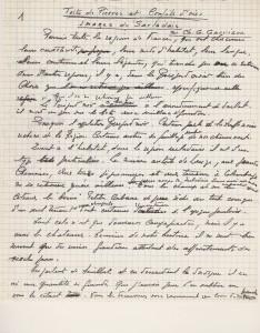 Manuscrit de CG Garrigou