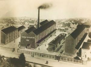 Usine de Nogent-sur-Marne en 1904 (Musée Curie)